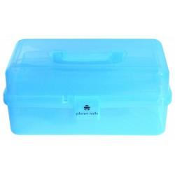 Plastikis lagaminėlis mėlynas